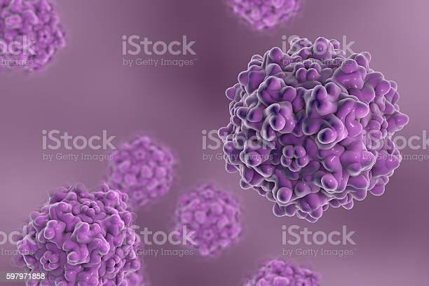 Adenoassociated Viruses 3d Illustration Stock Photo - Download Image Now