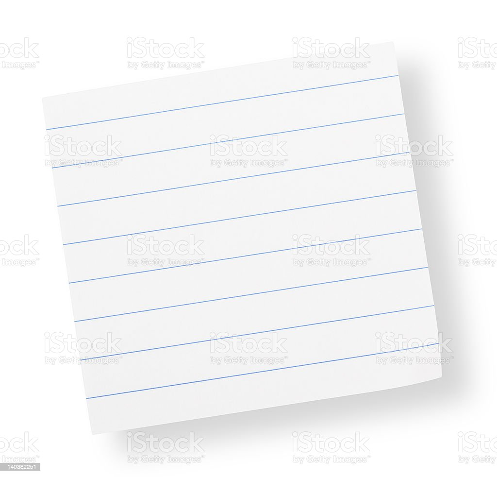 adhesive lined paper(with clipping path) royalty-free stock photo