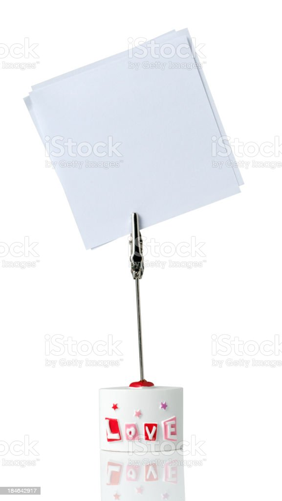 Adhesive Note isolated on white royalty-free stock photo