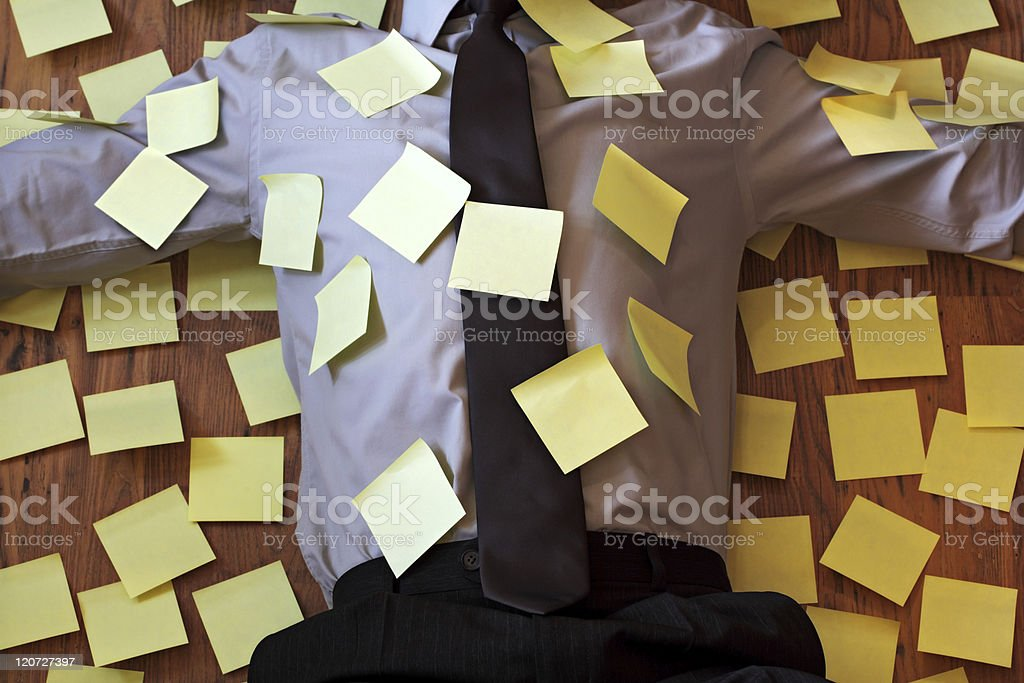 Adhesive note reminder overload royalty-free stock photo