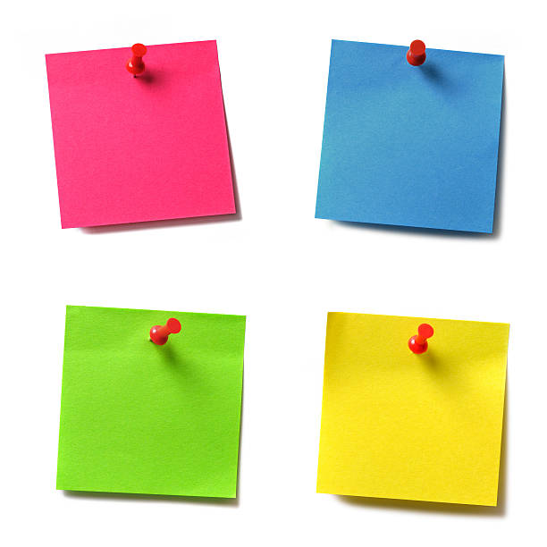 notas adesivos para - post it - fotografias e filmes do acervo