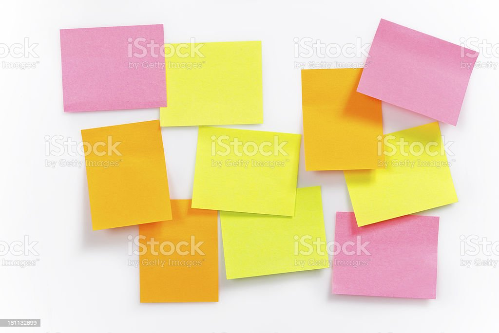 Adhesive Notes on white background.