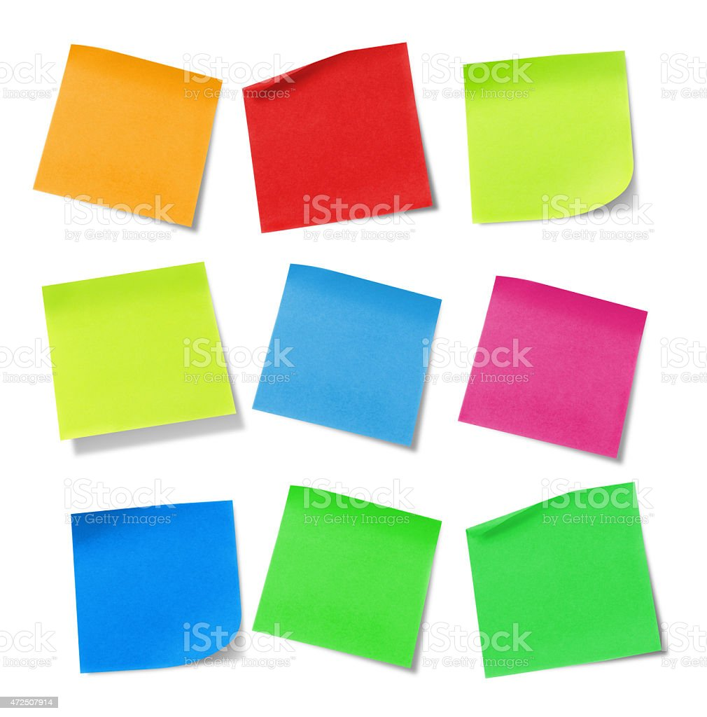 Adhesive notes stock photo
