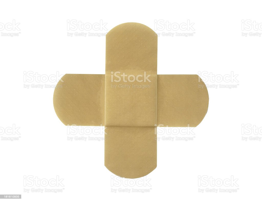 Adhesive plaster isolated on white background royalty-free stock photo