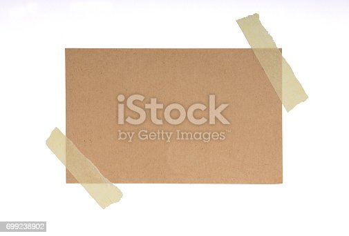 istock Adhesive Tape and Blank Note 699238902