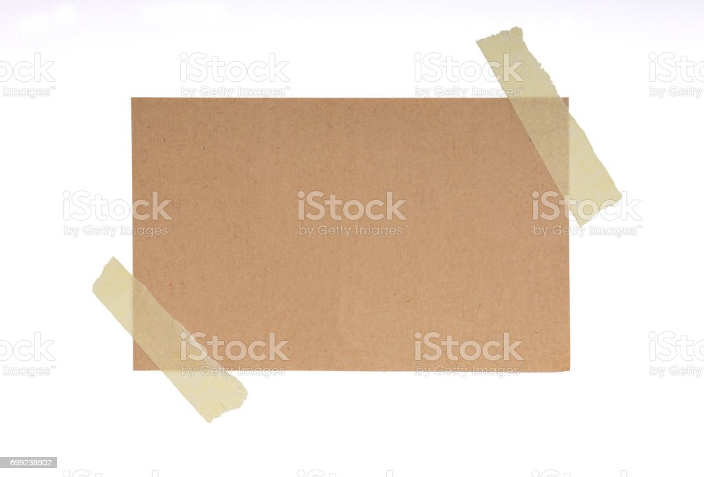 Adhesive Tape and Blank Note stock photo