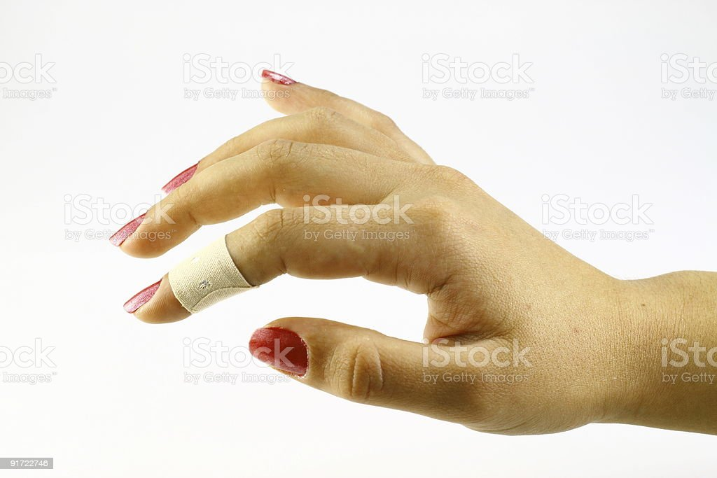 Adhesive Tape on Finger royalty-free stock photo