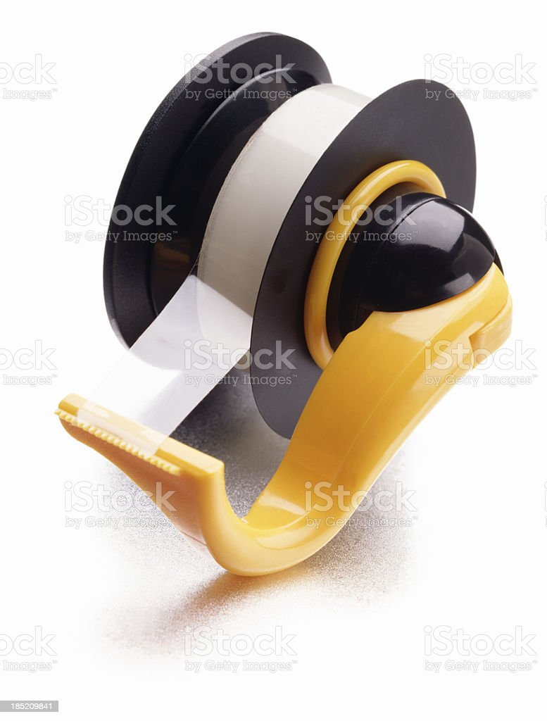 Adhesive Tape on white. stock photo