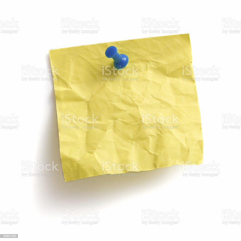 Adhesive yellow note royalty-free stock photo