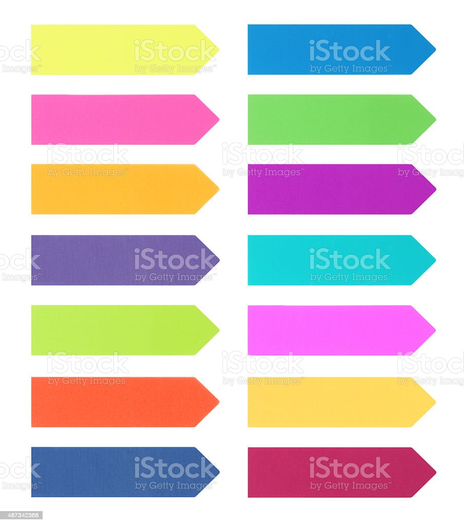 Adhesives Arrow Notes (with path) stock photo