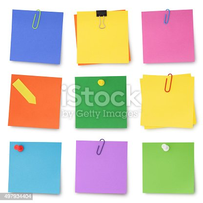 istock Adhesives Notes Collection 497934404
