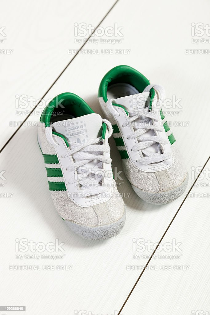 Adidas baby shoes stock photo