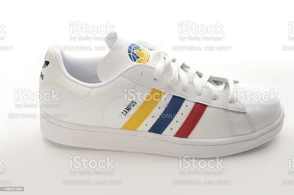 Adidas Campus 3 color stipes sneaker stock photo