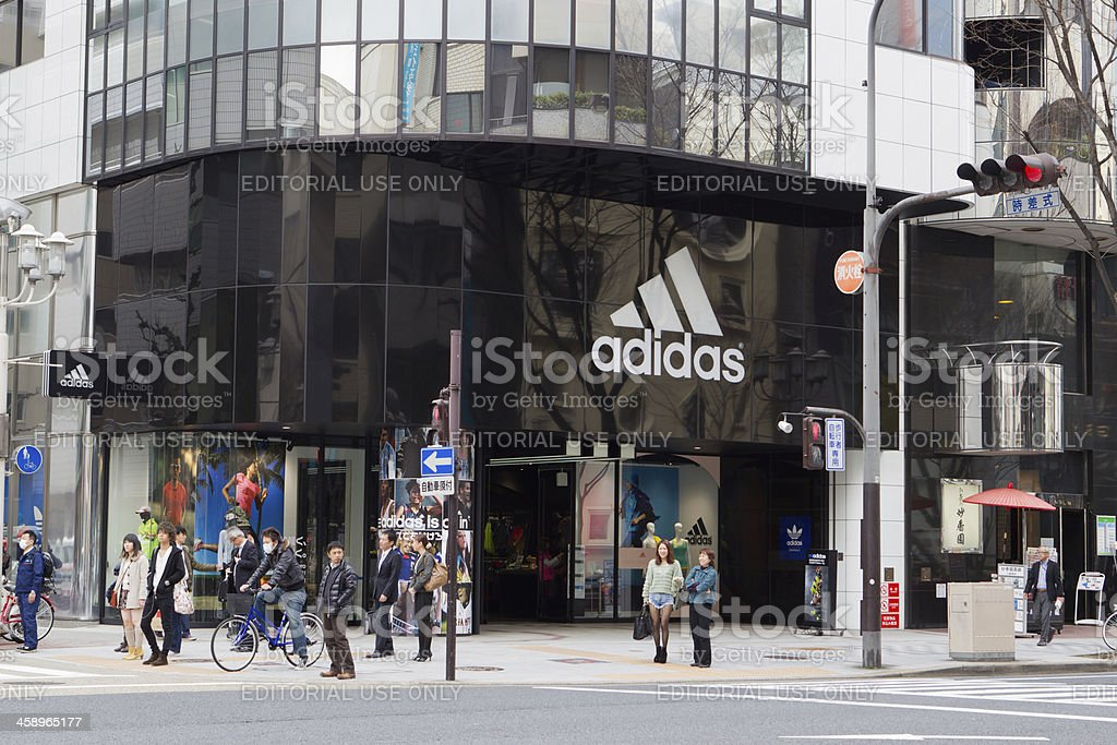 Adidas Flagship Store stock photo