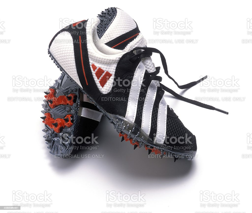 Adidas golf shoes stock photo