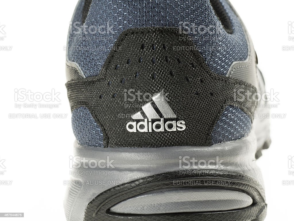 Adidas Hiking Shoes - Back View and Logo stock photo