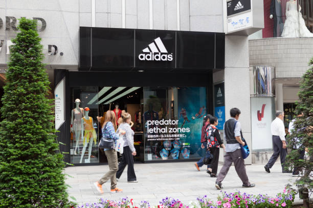 Adidas in Tokyo, Japan stock photo