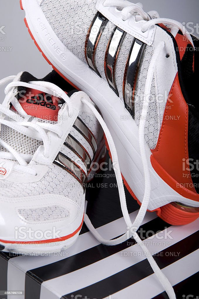 Adidas Men's Running Shoes stock photo