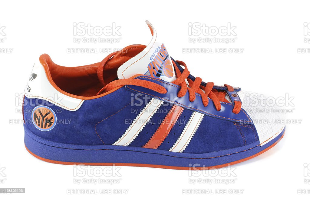 Adidas New York Knicks Limited Edition Shoe royalty-free stock photo