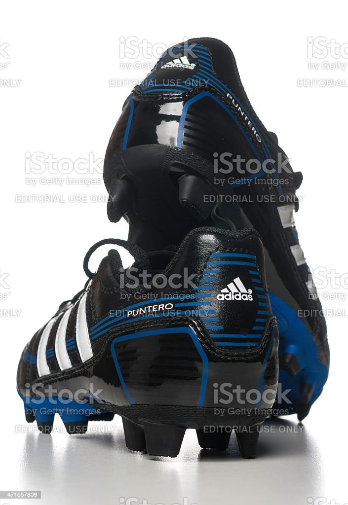 Adidas Puntero soccer shoes royalty-free stock photo