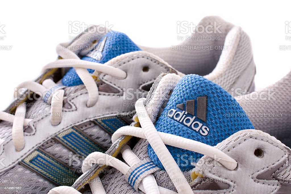 Adidas running shoes - sneakers stock photo