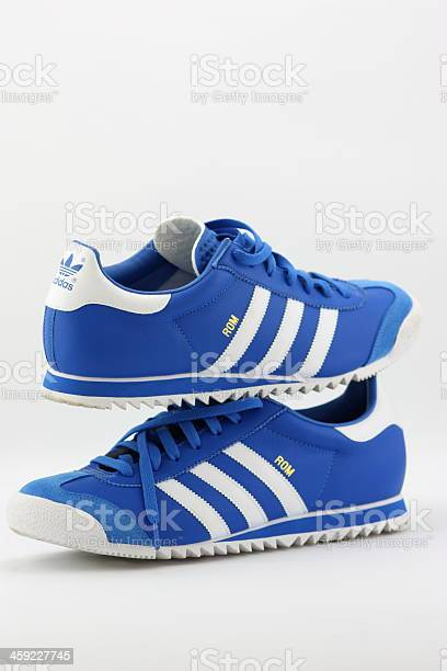 Adidas Shoes In Store Window Stock Photo - Download Image Now