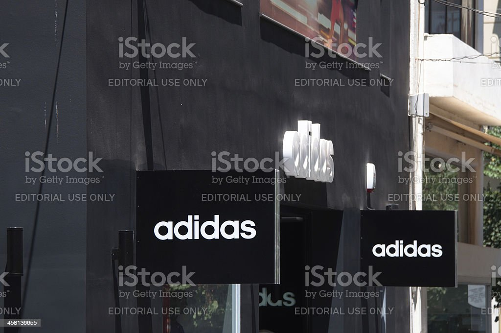 Adidas signs on store stock photo