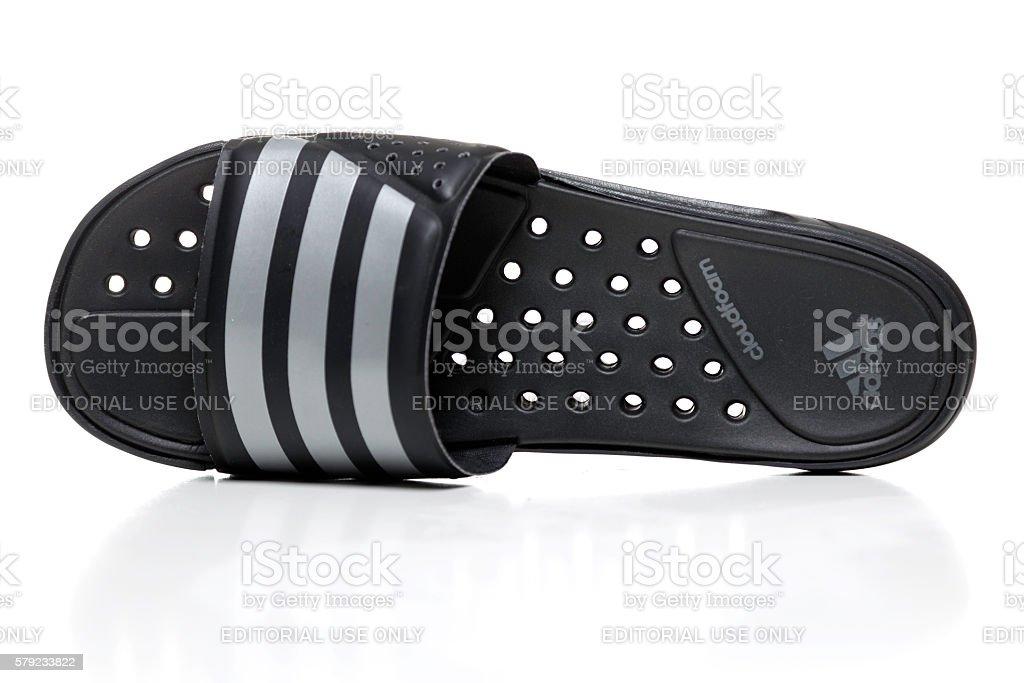 Adidas Slide cloudfoam sandal stock photo
