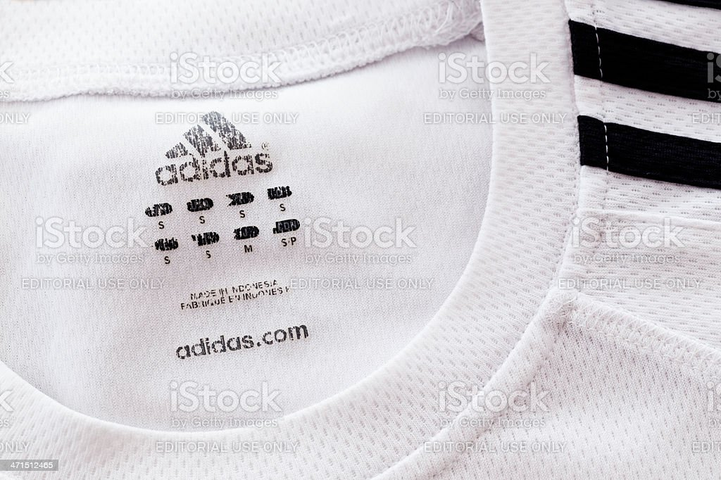 Adidas Sport Uniform stock photo