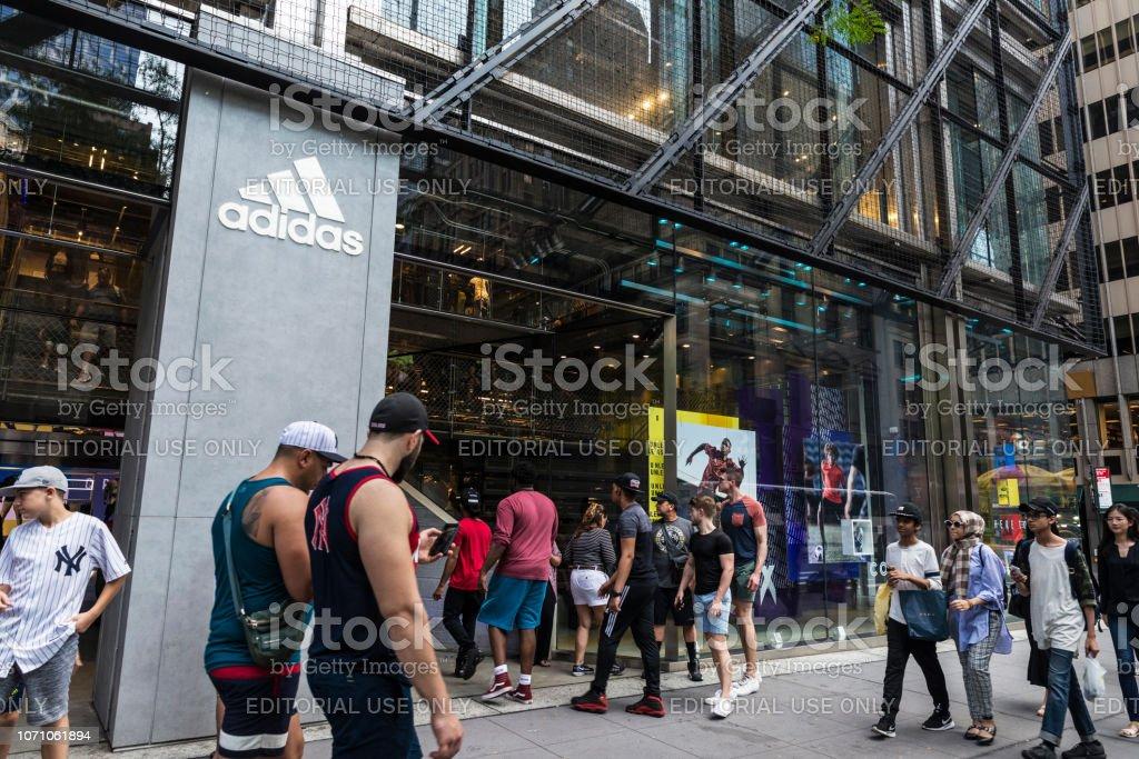 Adidas store in New York City, USA stock photo