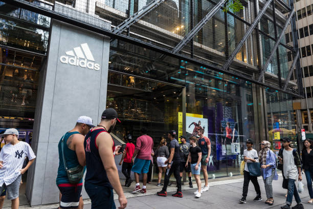 Adidas store in New York City, USA stock photo