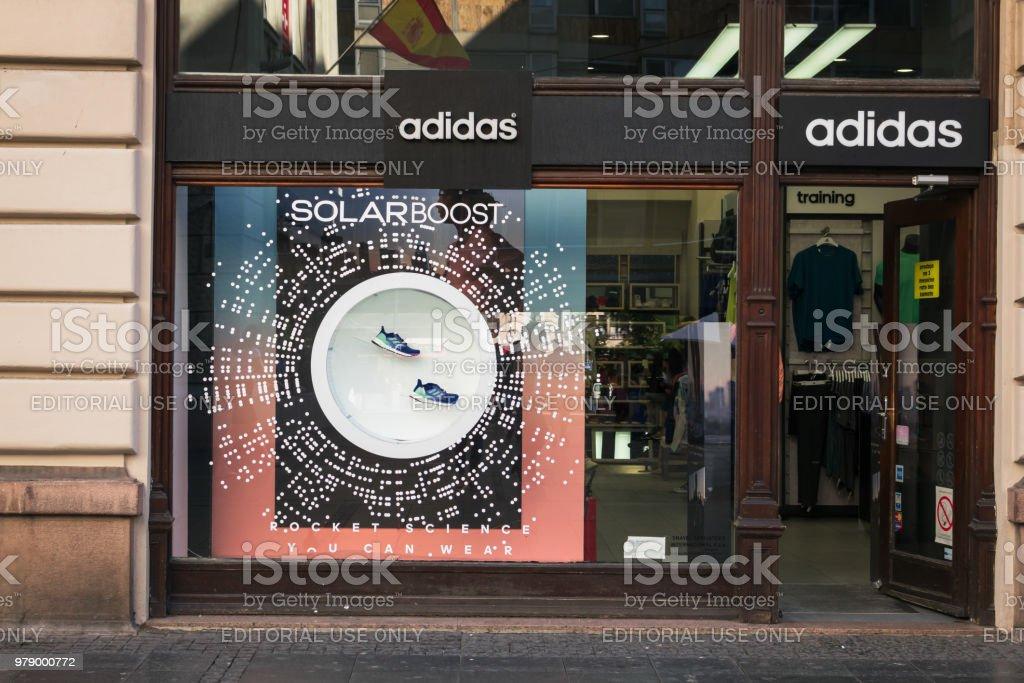 Adidas store stock photo