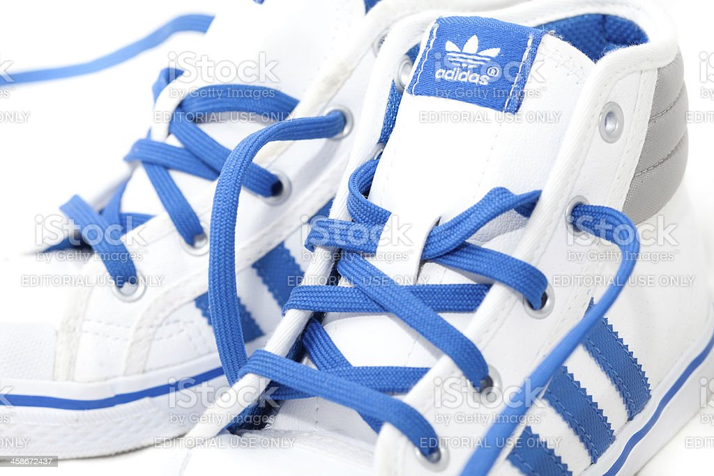 Adidas trainers isolated stock photo