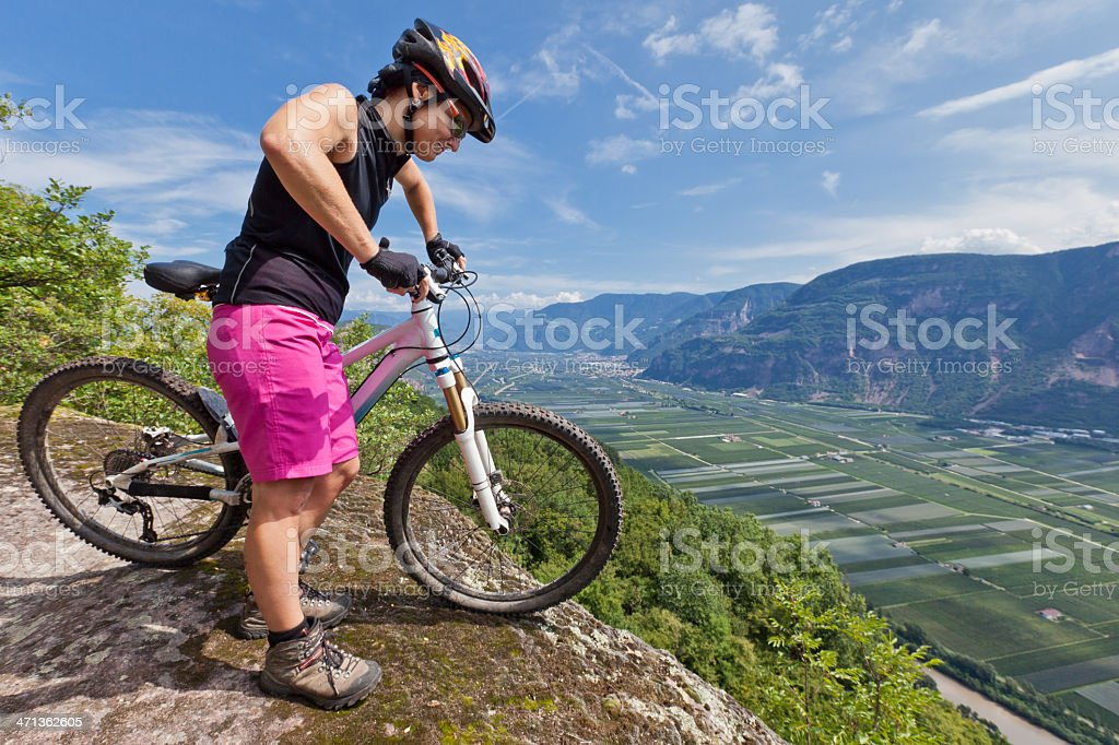 Adige Valley lookout stock photo