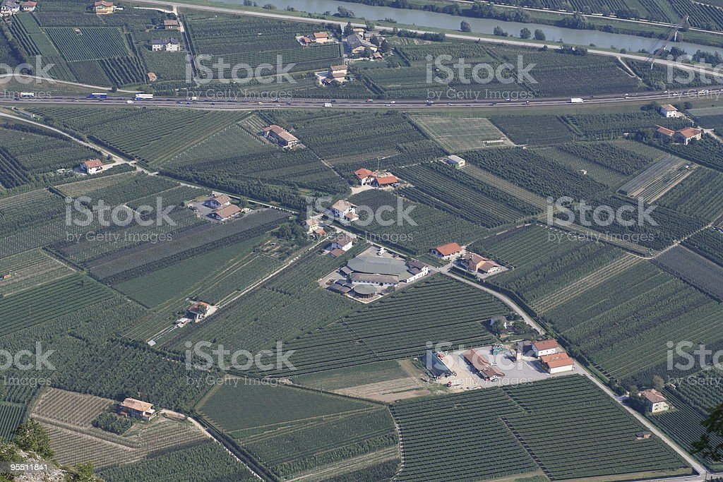 Adige Valley stock photo