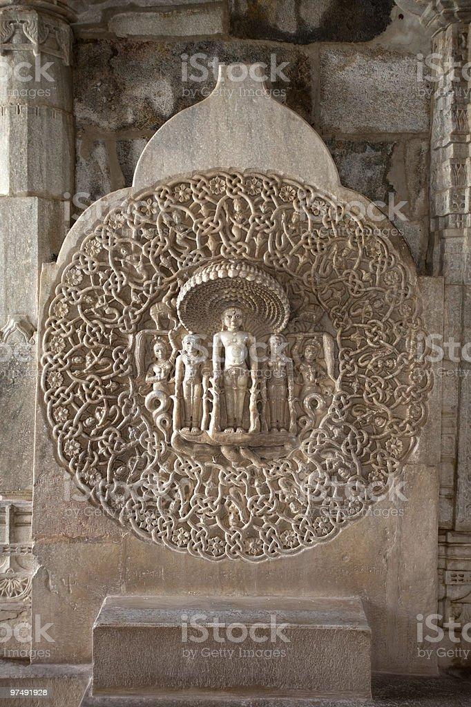 adinath temple of ranakpur royalty-free stock photo