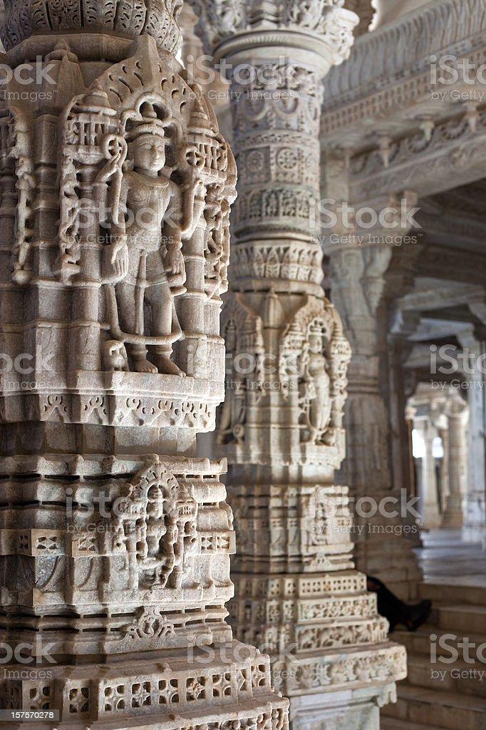 Adinatha Temple In Ranakpur, India royalty-free stock photo