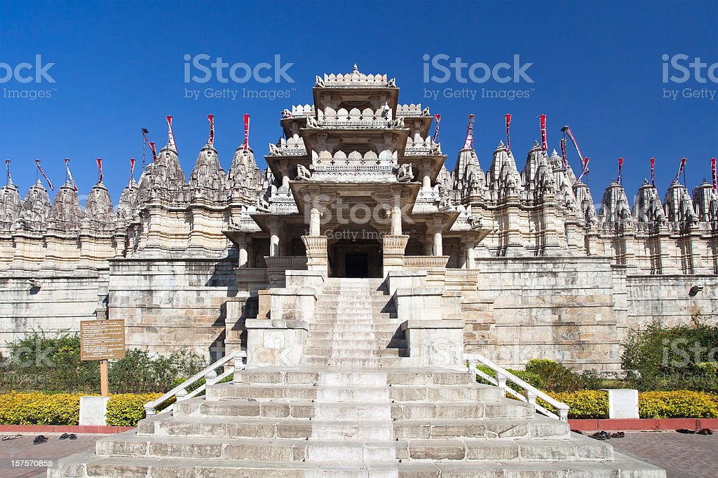 Adinatha Temple In Ranakpur, India stock photo