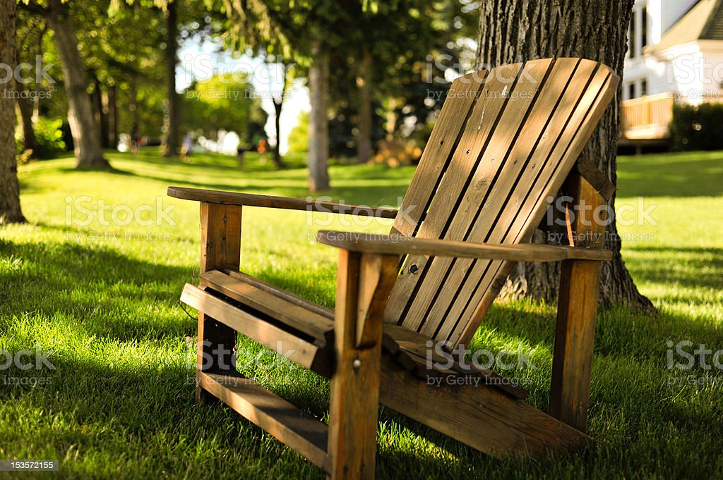 Adirondack Chair stock photo
