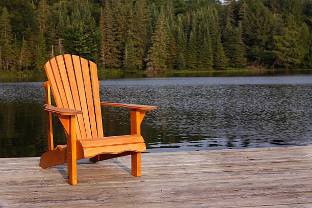 Adirondack Chair stock photo