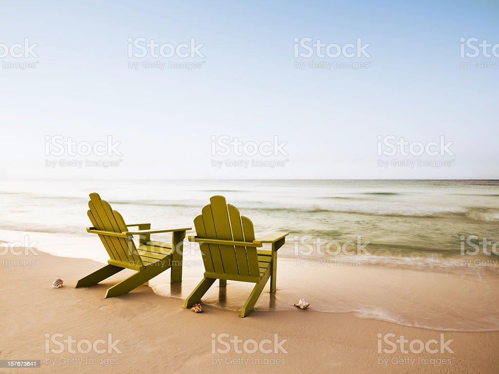 adirondack chairs on beach. Adirondack Chairs On Beach Royalty-free Stock Photo Adirondack Chairs Beach