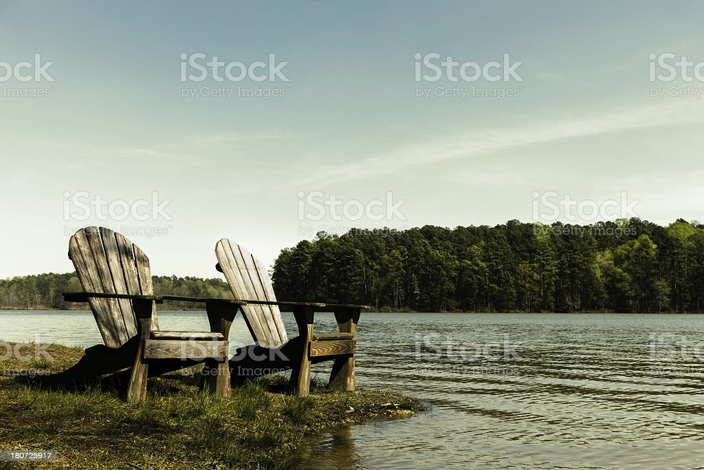 Adirondack Chairs royalty-free stock photo