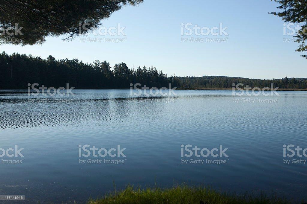 Adirondack Lake stock photo
