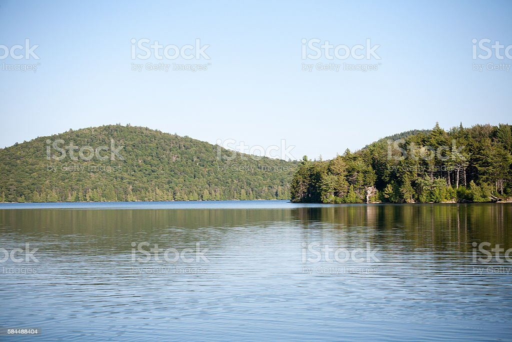 Adirondack Lake View stock photo