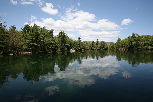 Adirondack Pond Lake stock photo