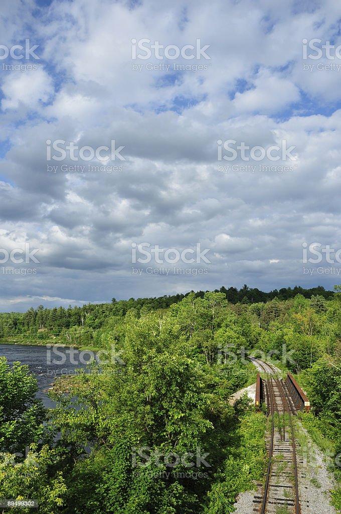 Ferrovia Adirondack 2 foto stock royalty-free