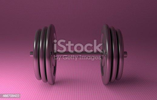 istock Adjustable metallic dumbbell 466709422