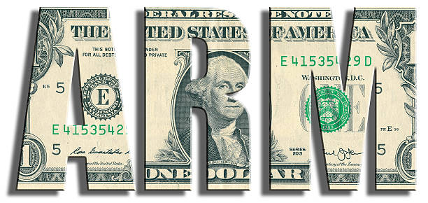 arm - adjustable rate mortgage. us dollar texture. - verstellbar stock-fotos und bilder