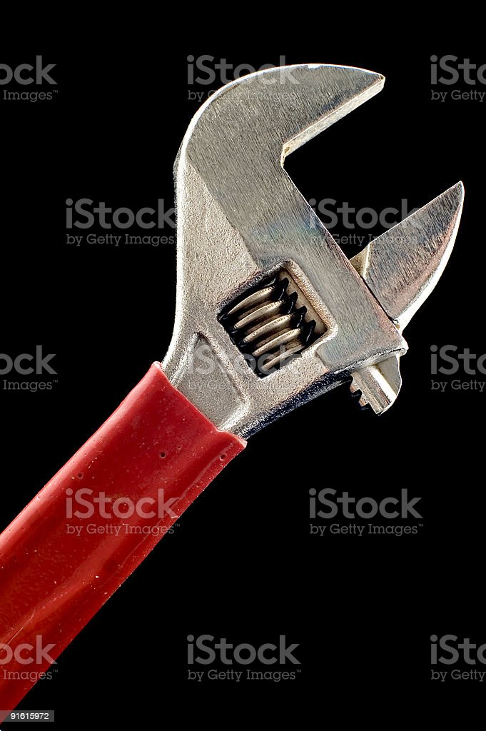 adjustable spanner close up royalty-free stock photo