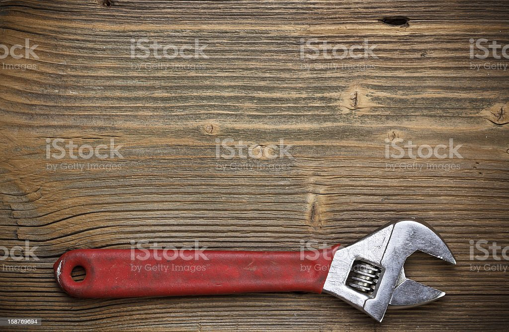Adjustable spanner royalty-free stock photo